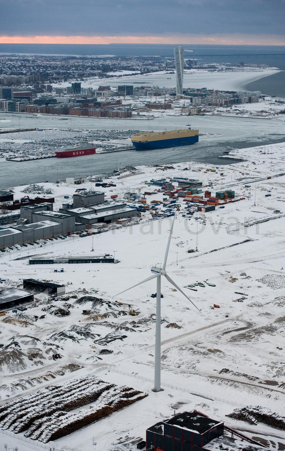 Malmö-turnig torso-hamn-vindkraftverk